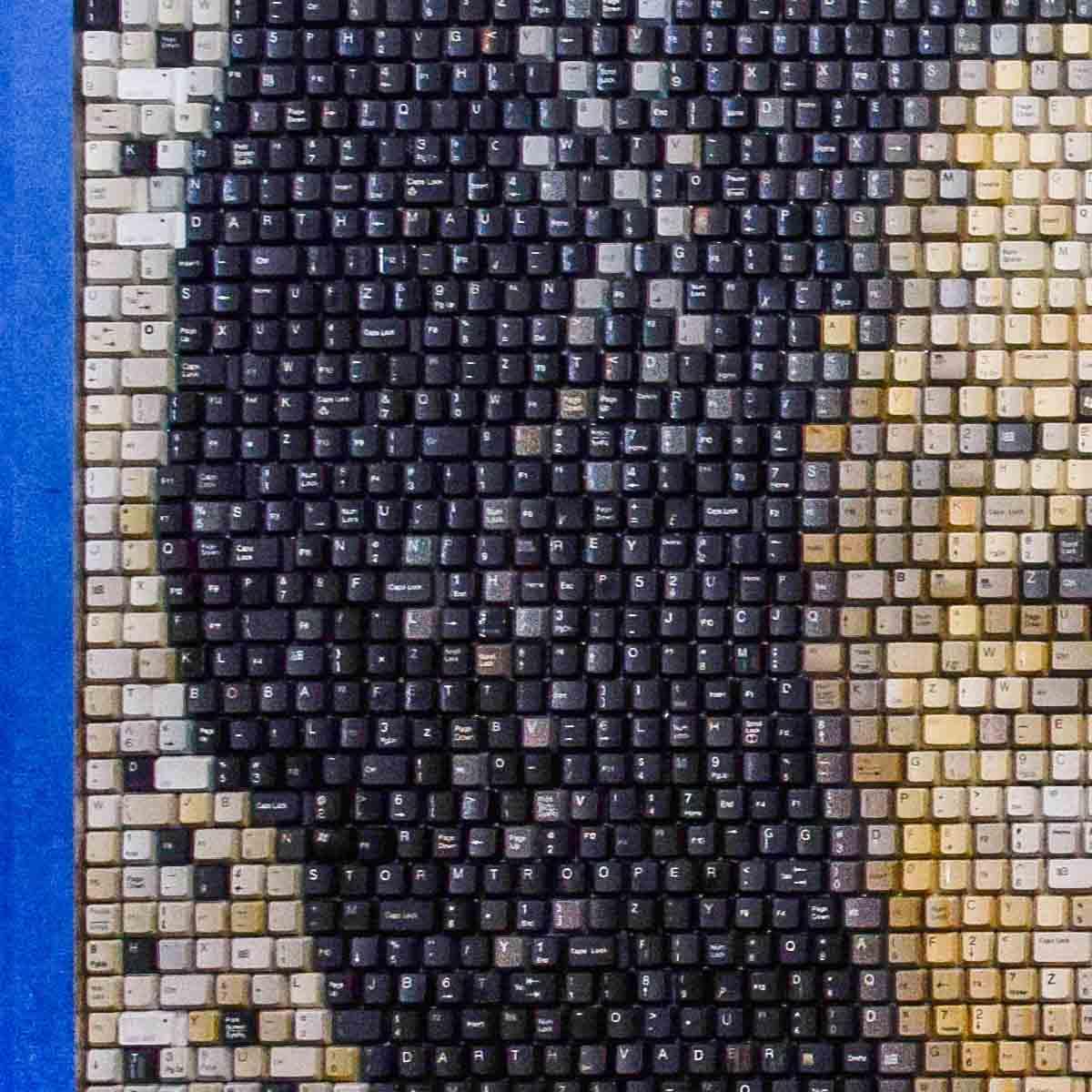 Princess Leia keyboard portrait
