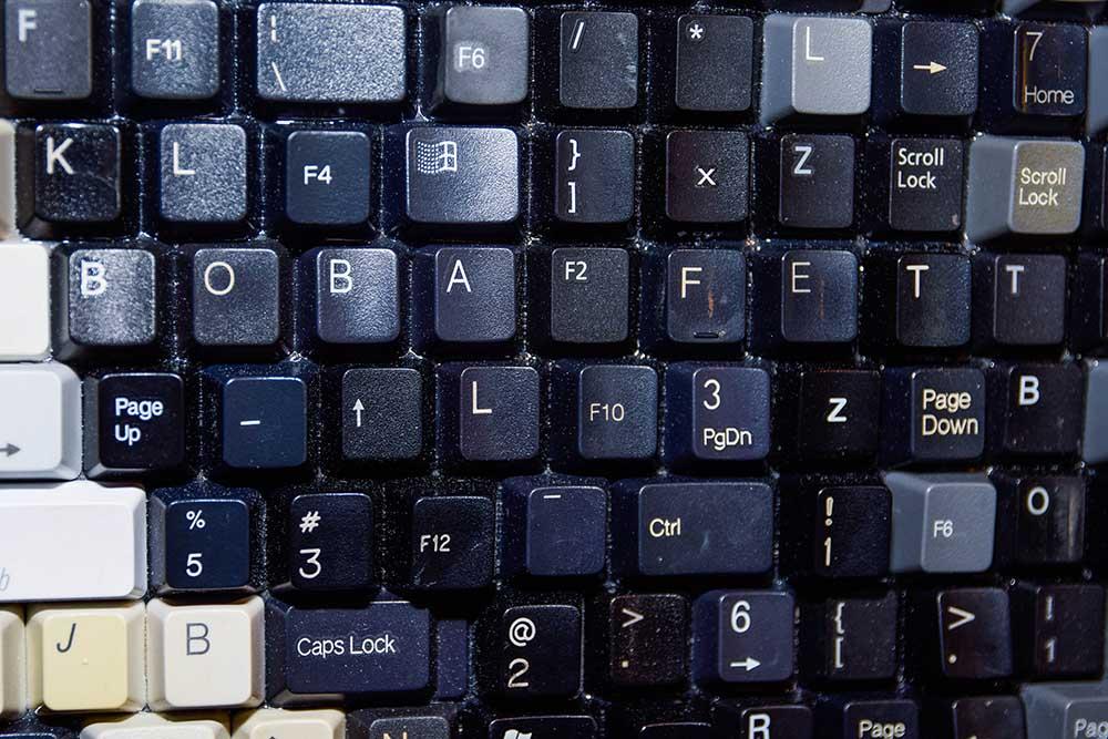 """""""Boba Fett"""" hidden in keyboard portrait"""