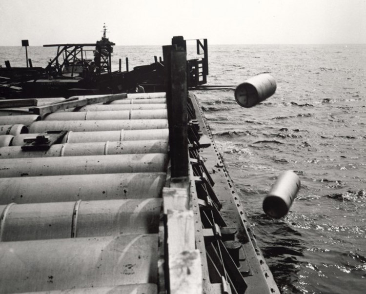 chemical weapons being dumped in ocean
