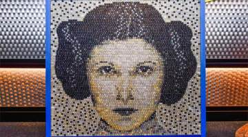 keyboard portrait of princess leia