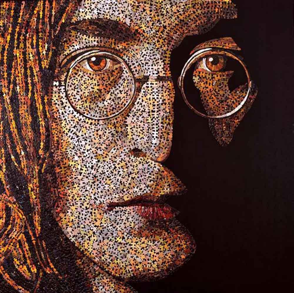 John Lennon puzzle pieces