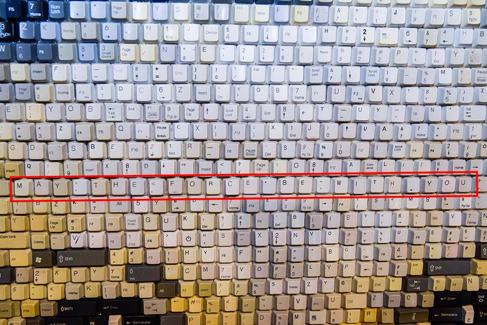 keyboard portrait with may the force be with you