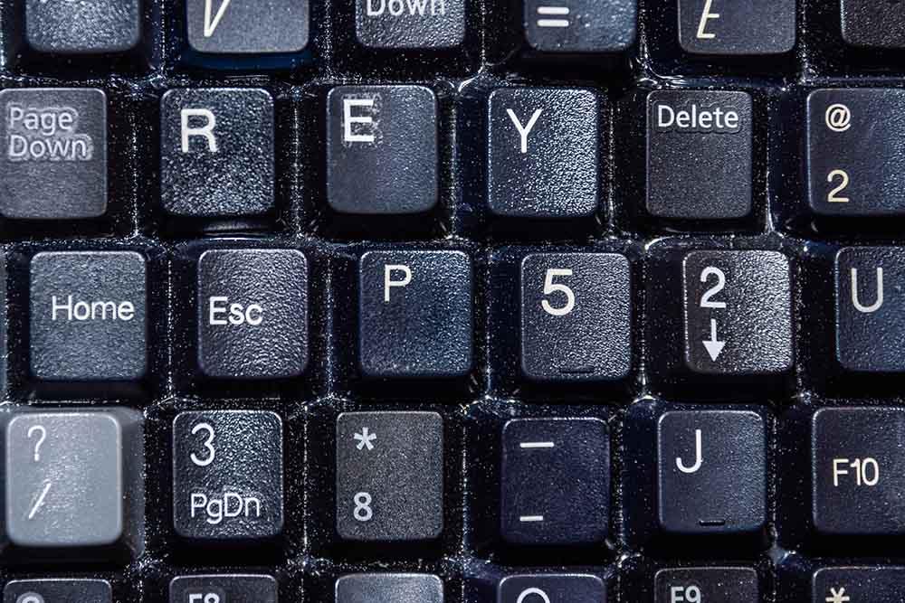 Rey hidden in keyboard portrait