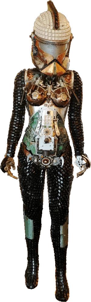 Computer Parts Female Sculpture