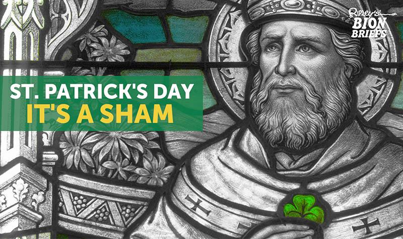 st. patrick's day sham