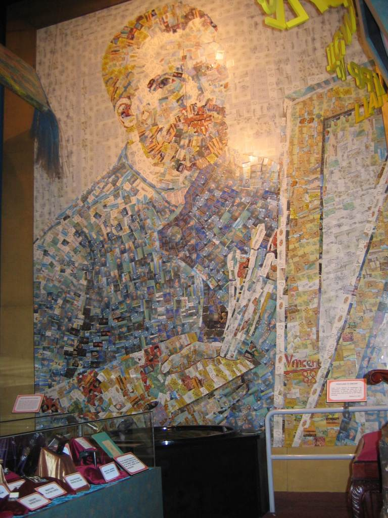 Vincent Van Gogh made from 30,000 (110 different ) postcard