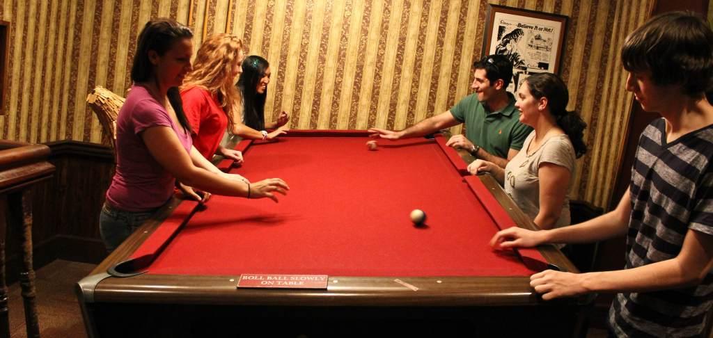 Titled Pool Room