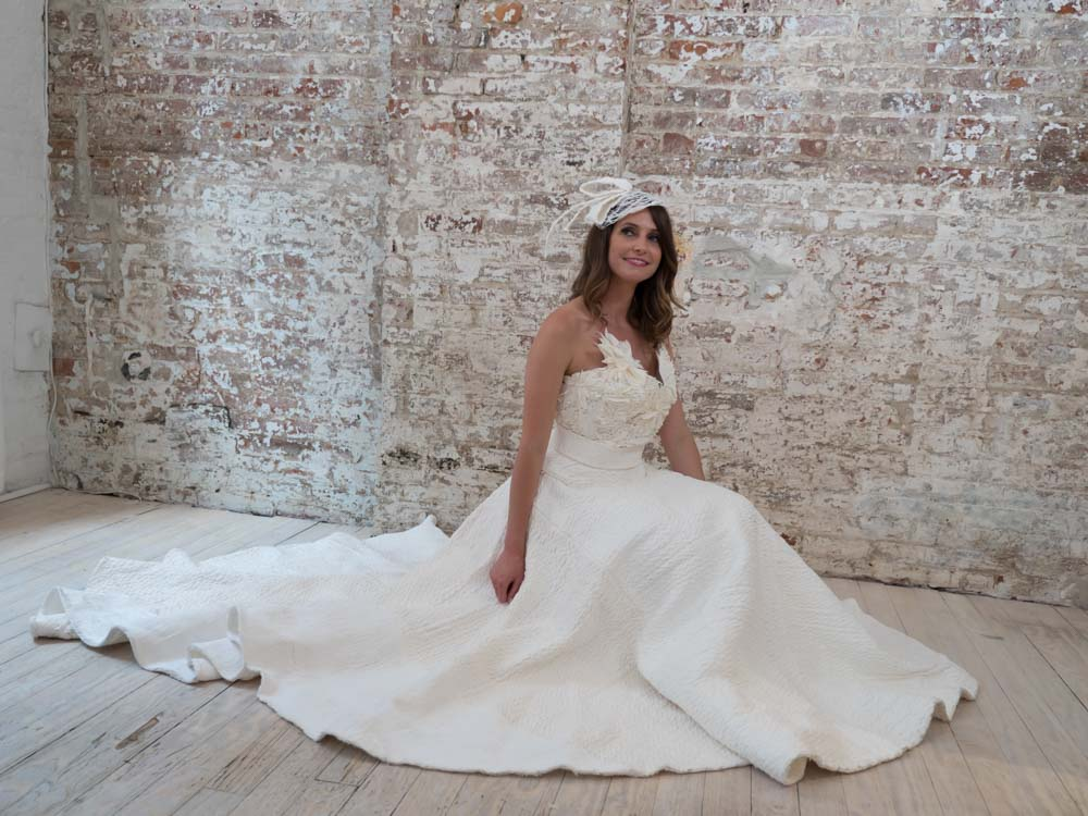 Say yes to the dress made out of toilet paper battlefordsnow for Toilet paper wedding dress 2017