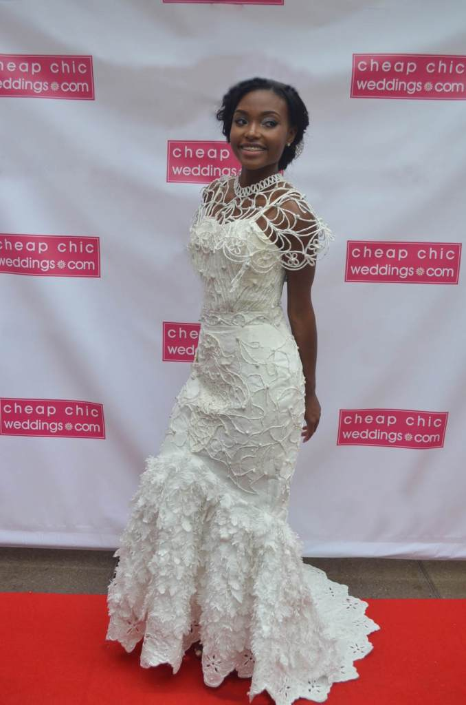 Wedding Dress made from Toilet Paper