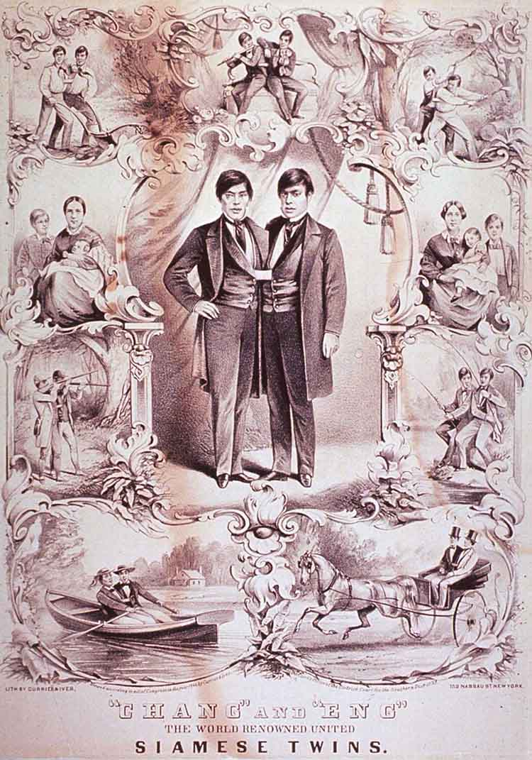 Chang and Eng lithograph