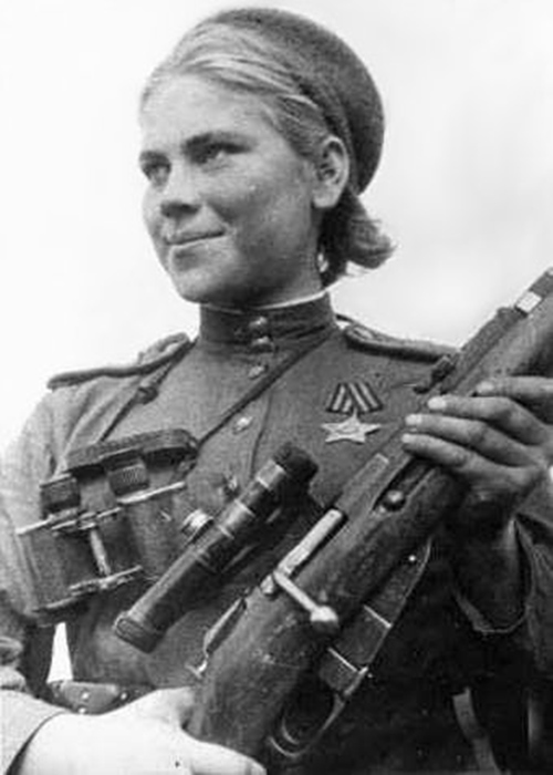 women's uniform for russian sniper