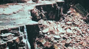 niagara falls runs dry