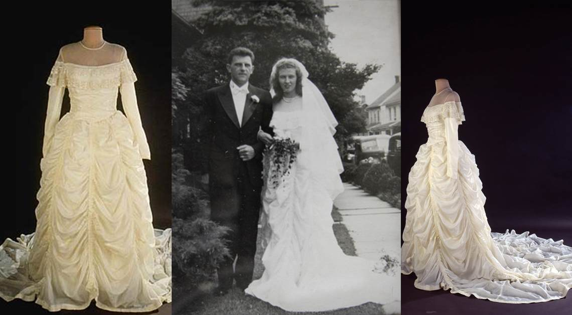 WWII Parachute Wedding Dress