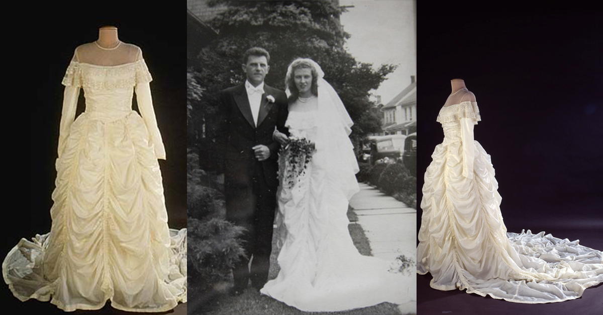 WWII Parachute Wedding Dress