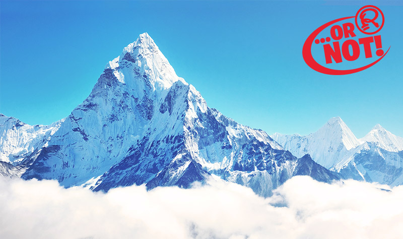 or not everest is the tallest mountain in the world