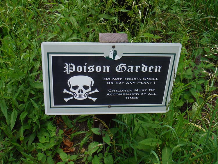 poison garden warning