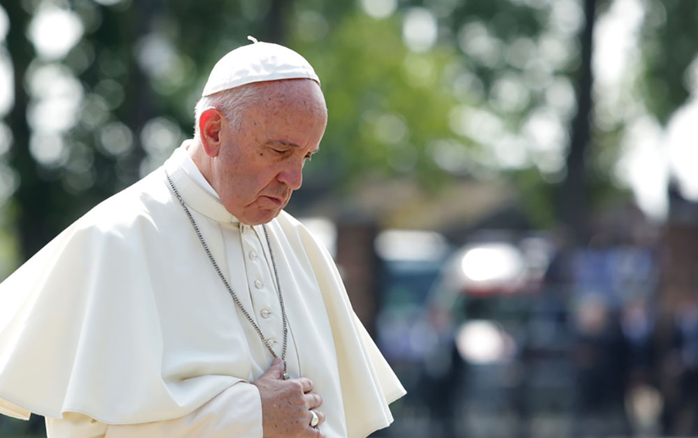 sleepy pope