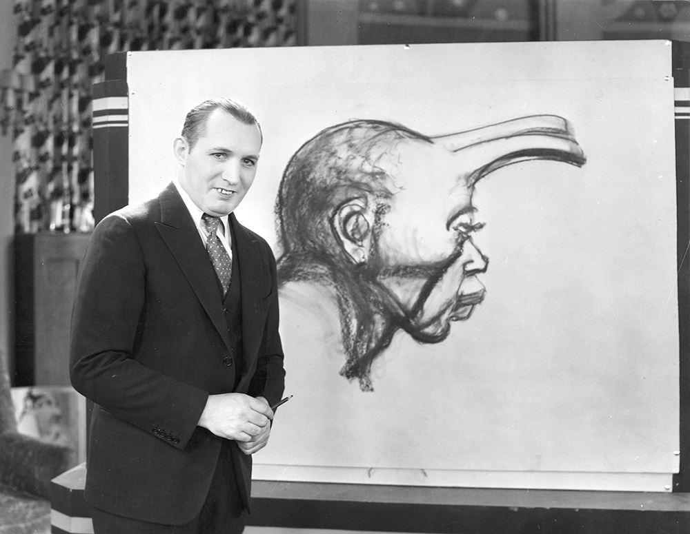robert ripley drawing a human unicorn