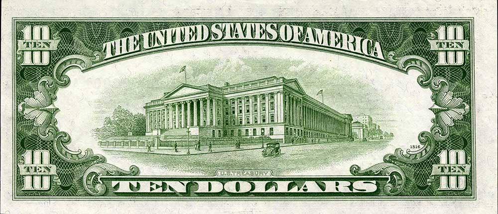 1953 ten dollar bill