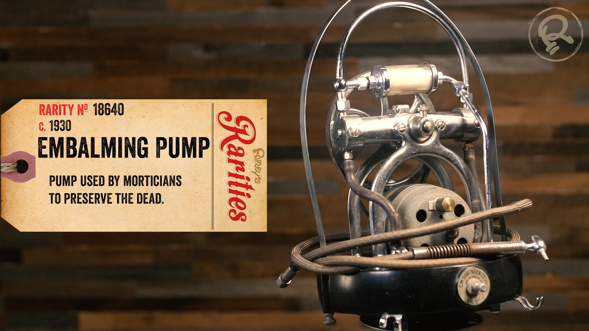embalming pump