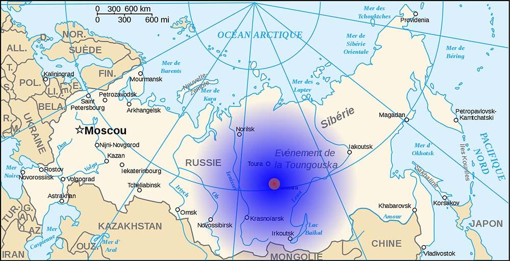 tunguska event map