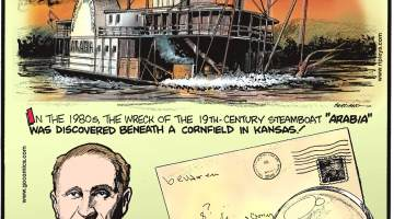 "In the 1980s, the wreck of the 19th-century steamboat ""Arabia"" was discovered beneath a cornfield in Kansas!-------------------------- Forrest Mars - the creator of Peanut M&M's - was allergic to peanuts!-------------------- ""Address detectives"" are employed by the Royal Mail to help correct badly written addresses!"