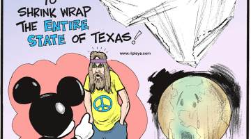 Every year, the U.S. produces enough plastic film to shrink wrap the entire state of Texas!------------------- Men with long hair were not allowed to enter Disneyland until the late 1960s!-------------------- Each year, the Earth loses 55,000 tons of mass!