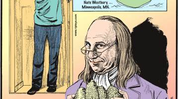 Nauru is the only country without an official capital! Submitted by Nate Westbury, Minneapolis, MN.-------------------- Brandon Marshall of Suffolk, England, just 16 years old, stands at 7 feet 4 inches - the tallest teen in the world!-------------------- Colonial Americans used corncobs for toilet paper!