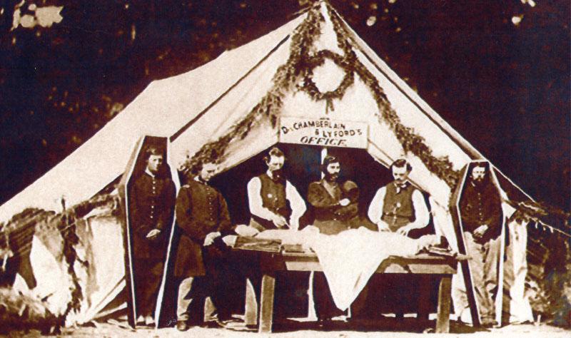 embalming tent