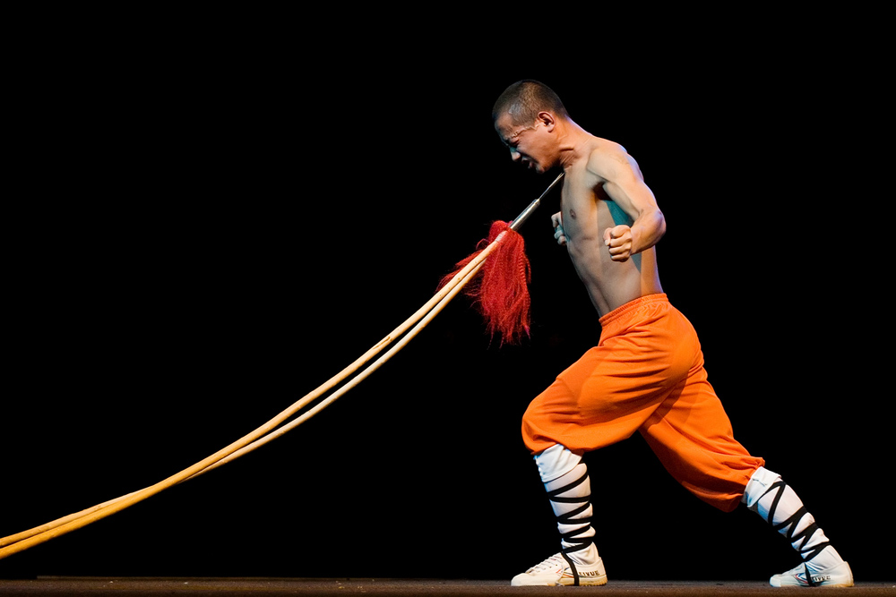 shaolin monk spear stunt