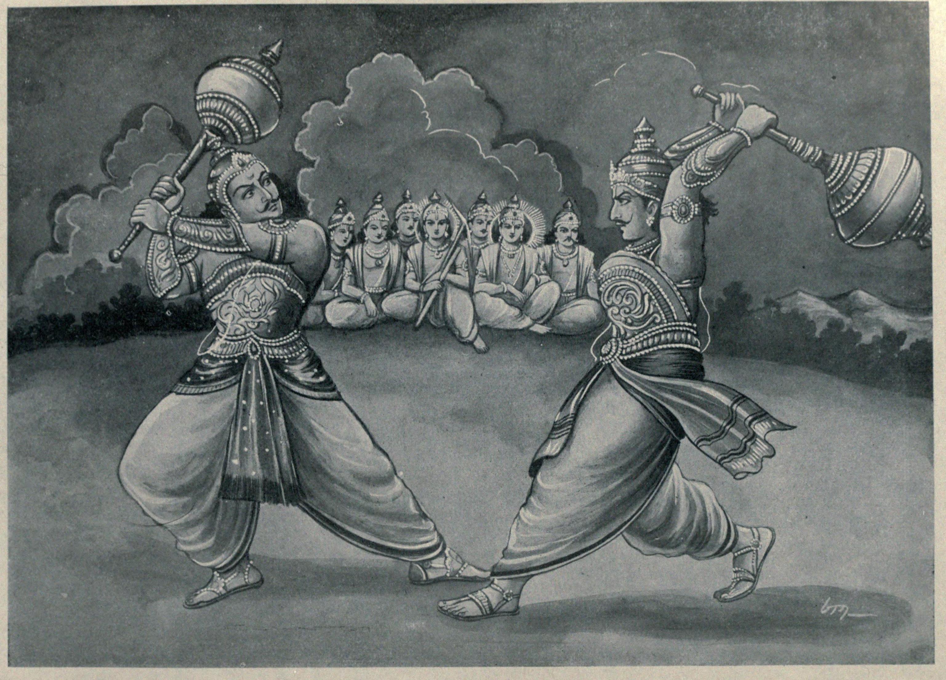 duryodhana and bhima duel