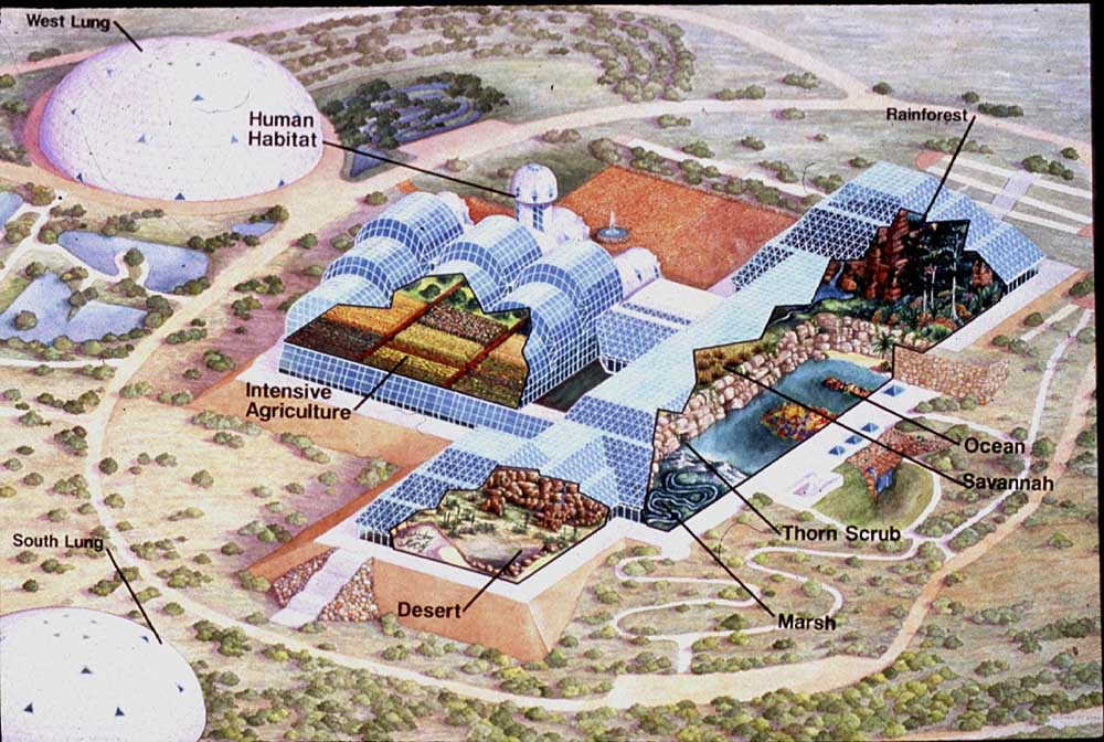 biosphere 2 map