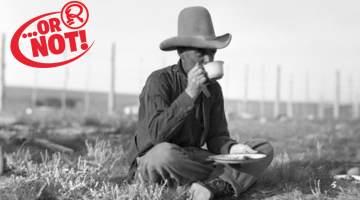 cowboy sitting down