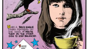 1. When a bald eagle loses feathers on one wing, it molts them on the other side to stay balanced. 2. There are 27 states in the United States that reach farther north than the southernmost point of Canada. 3. Grace Slick of the rock band Jefferson Airplane tried to spike Richard Nixon's tea with LSD in 1969.