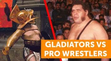 gladiators vs pro wrestlers