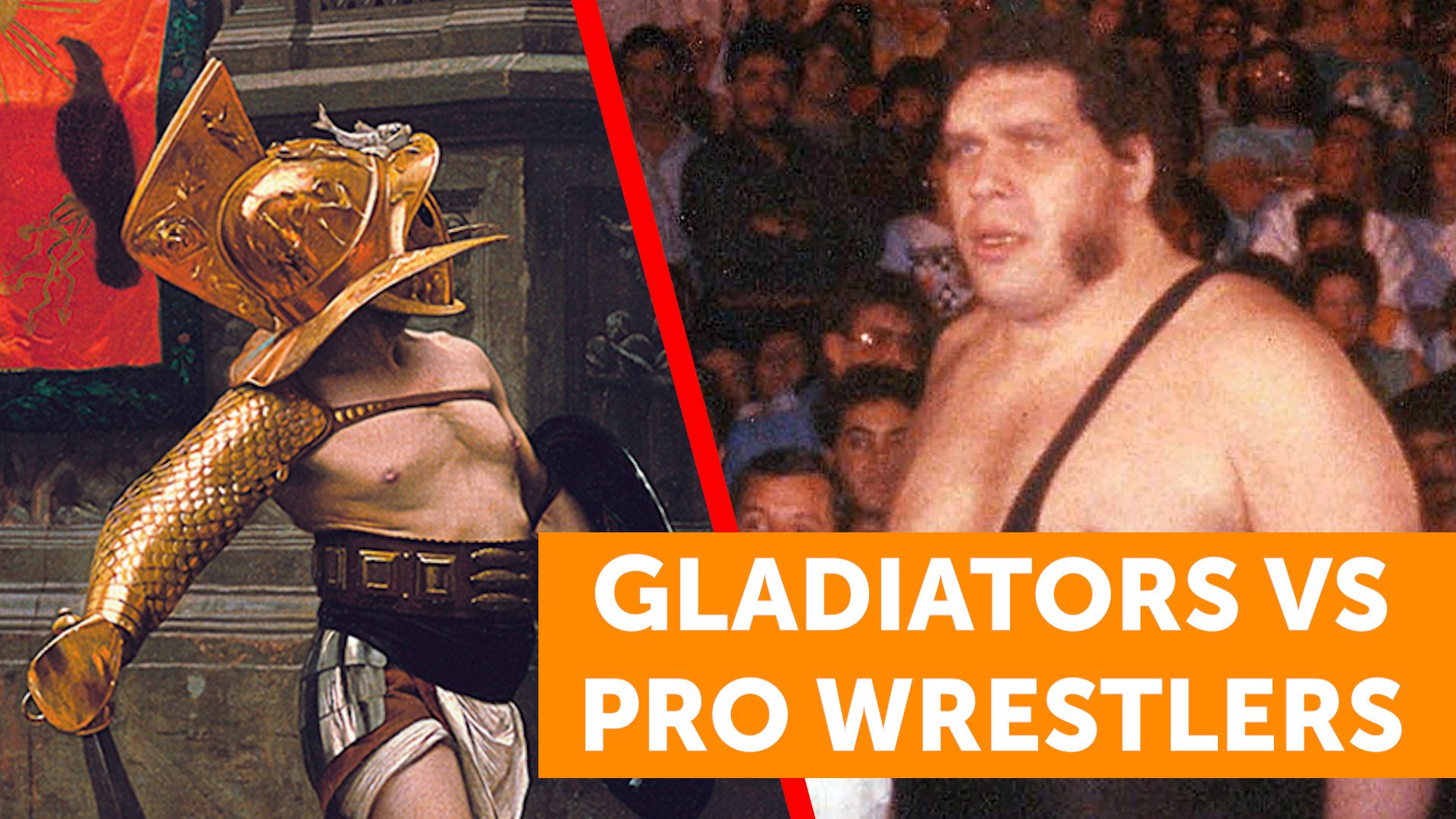 Ancient Roman Gladiators VS Professional Wrestlers