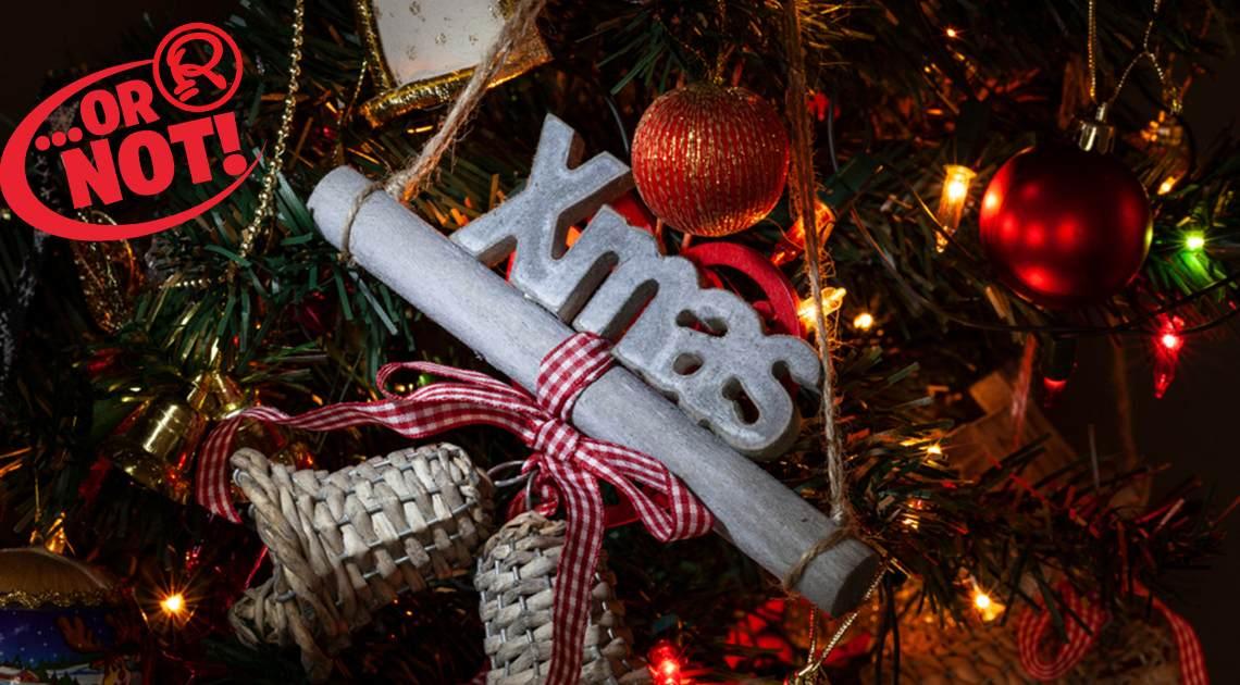 xmas decoration on tree