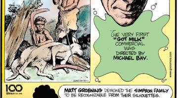 """1. """"Kangaroo"""" is actually a word from Australia's aboriginal language. 2. The very first """"Got Milk"""" commercial was directed by Michael Bay. 3. Matt Groening designed the Simpson Family to be recognizable from their silhouettes."""