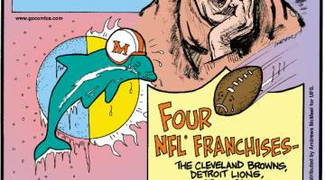 1. The average professional football game lasts 3 hours and 12 minutes, but the ball is actually only in play for about 11 minutes! 2. The Miami Dolphins played the coldest Super Bowl (39 F in New Orleans) and the hottest Super Bowl (84 F in Los Angeles) on record - back-to-back! 3. Four NFL franchises - the Cleveland Browns, Detroit Lions, Houston Texans and Jacksonville Jaguars - have never been to the Super Bowl.