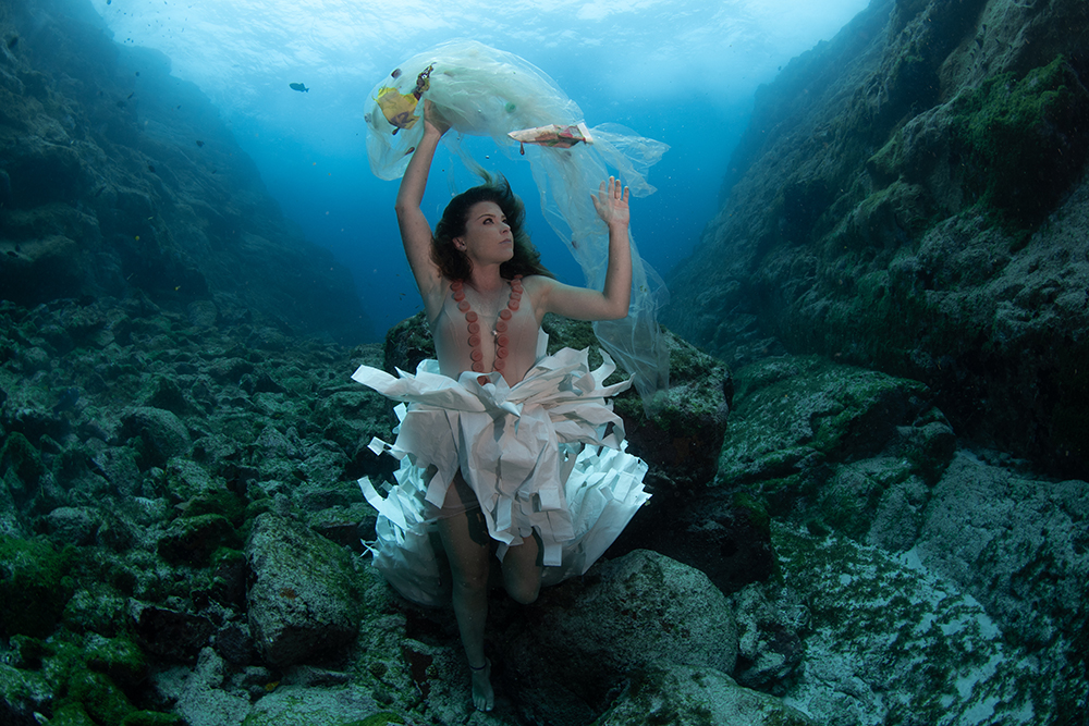 ocean plastic dress