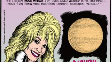 1. The largest blue whale that ever lived weighed up to 200 tons - more than twice what scientists estimate dinosaurs weighed! 2. Dolly Parton names all of her wigs! 3. Saturn didn't always have its rings.