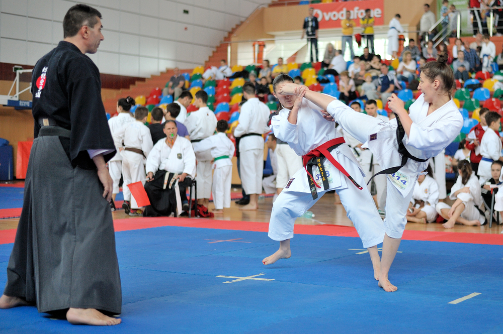 black belts karate tournament