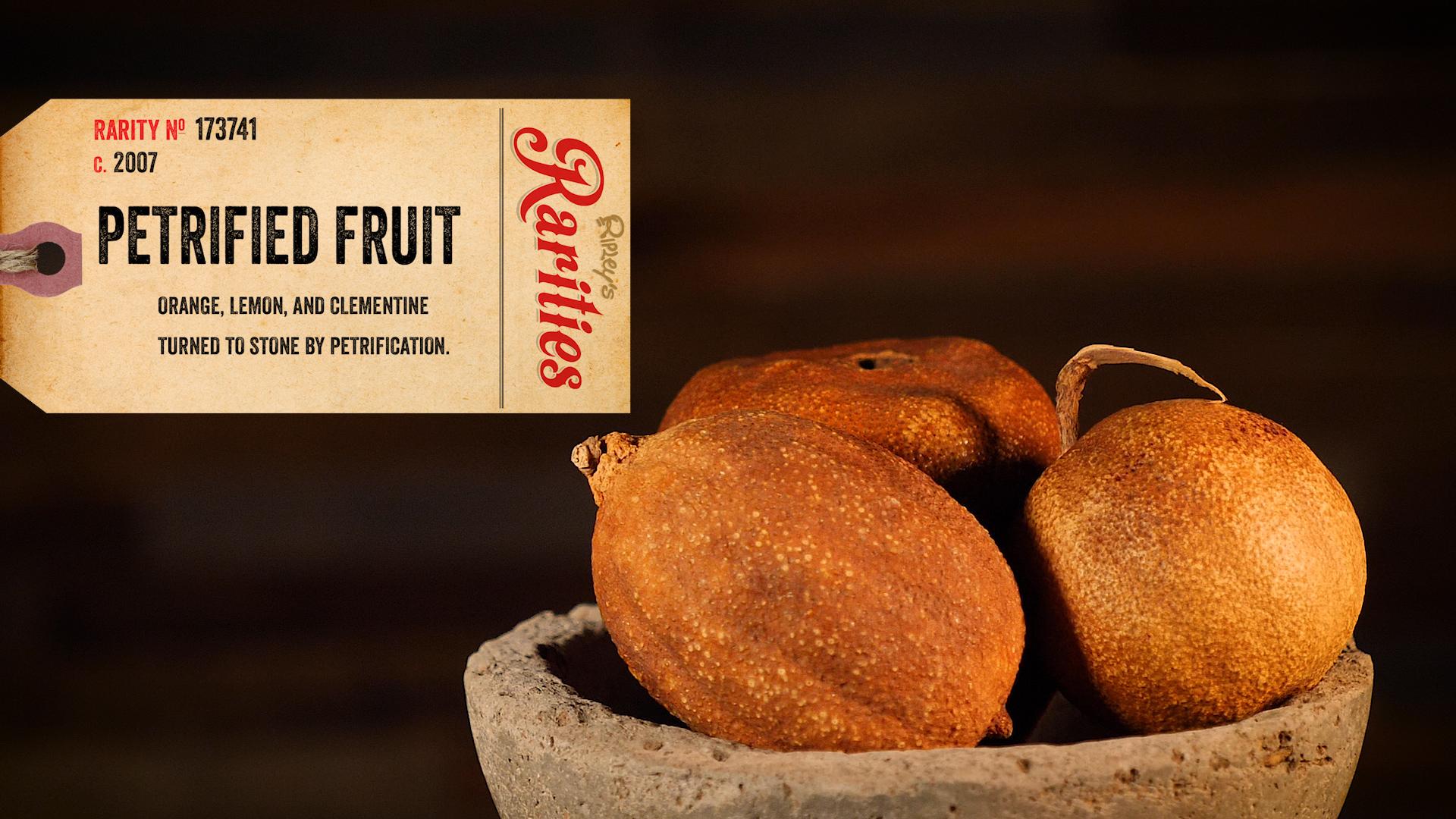 petrified fruit