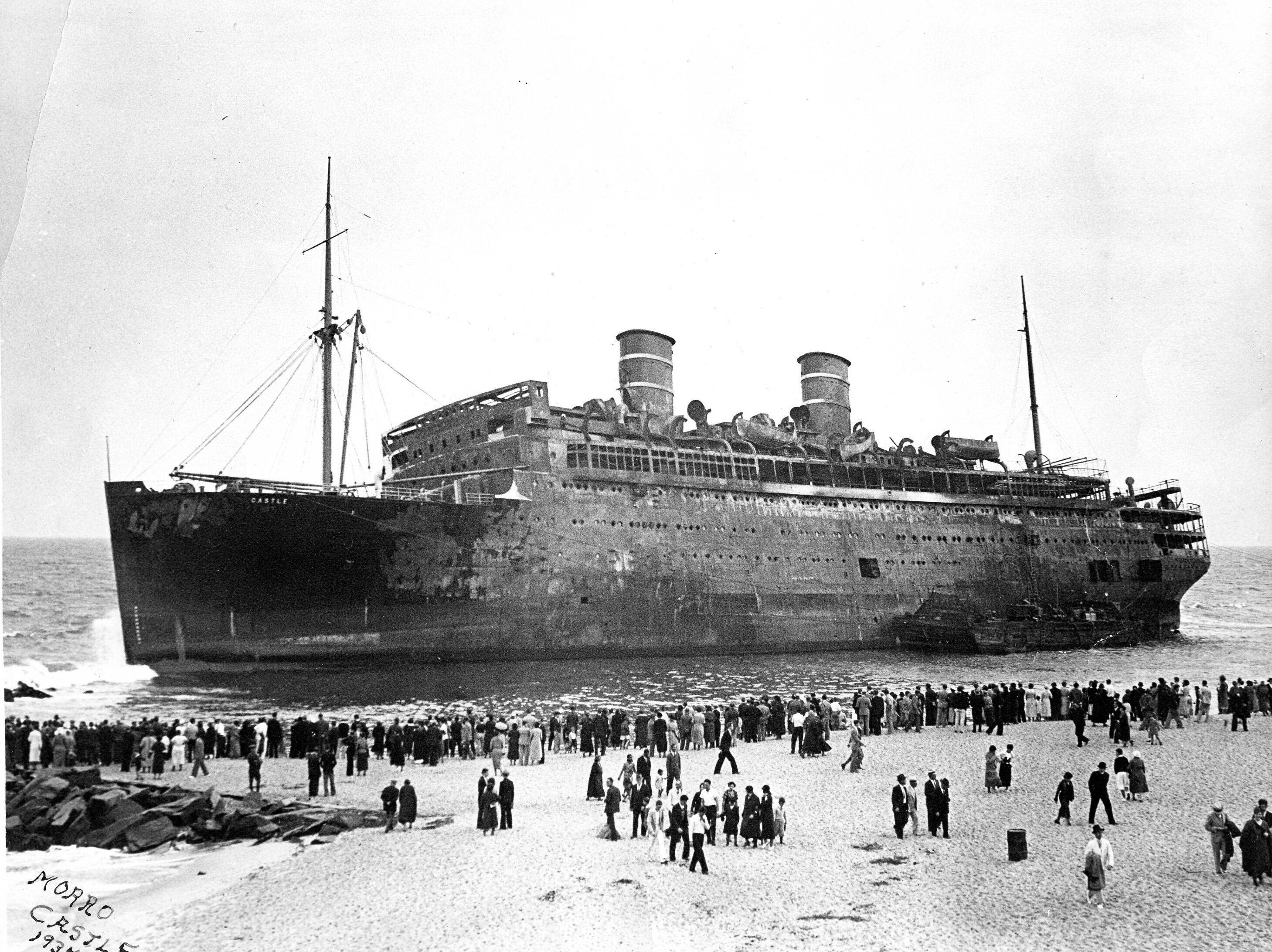 morro castle with lifeboats