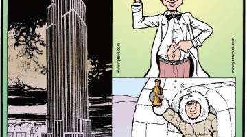 """1. If the Empire State Building were on the Dead Sea Shore, everything but the mast would be below sea level. 2. The belly button has a scientific name: umbilicus! 3. """"Hooch"""" comes from the Hoochinoo Tribe of Alaska, who made very strong liquor."""