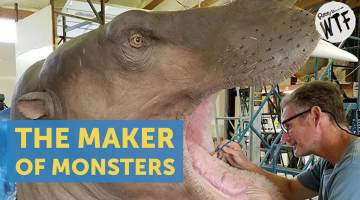 man who makes the world's biggest monsters