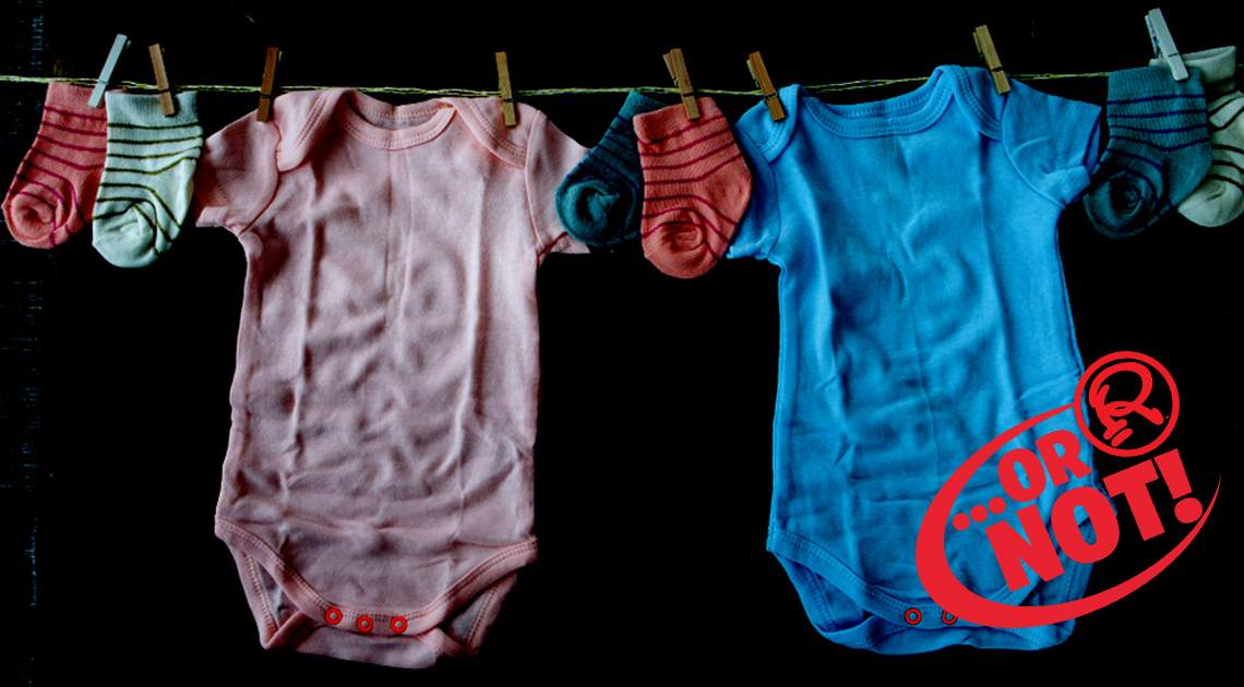 baby clothes on drying line