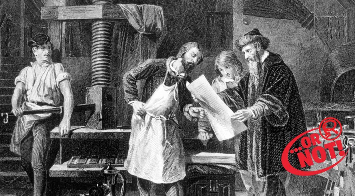 first printing press art