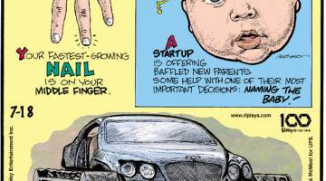 1. Your fastest-growing nail is on your middle finger. 2. A startup is offering baffled new parents some help with one of their most important decisions: naming the baby! 3. Dubbed the Ultratank, Russian motor enthusiasts replaced a Bentley's tires with tank treads - a challenging project that took seven months to complete!