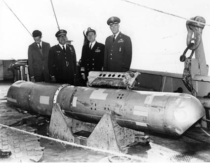 recovered nuclear bomb